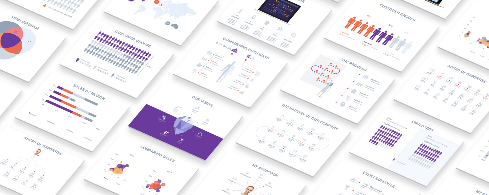 Free Presentation Templates With Infographics By Adioma